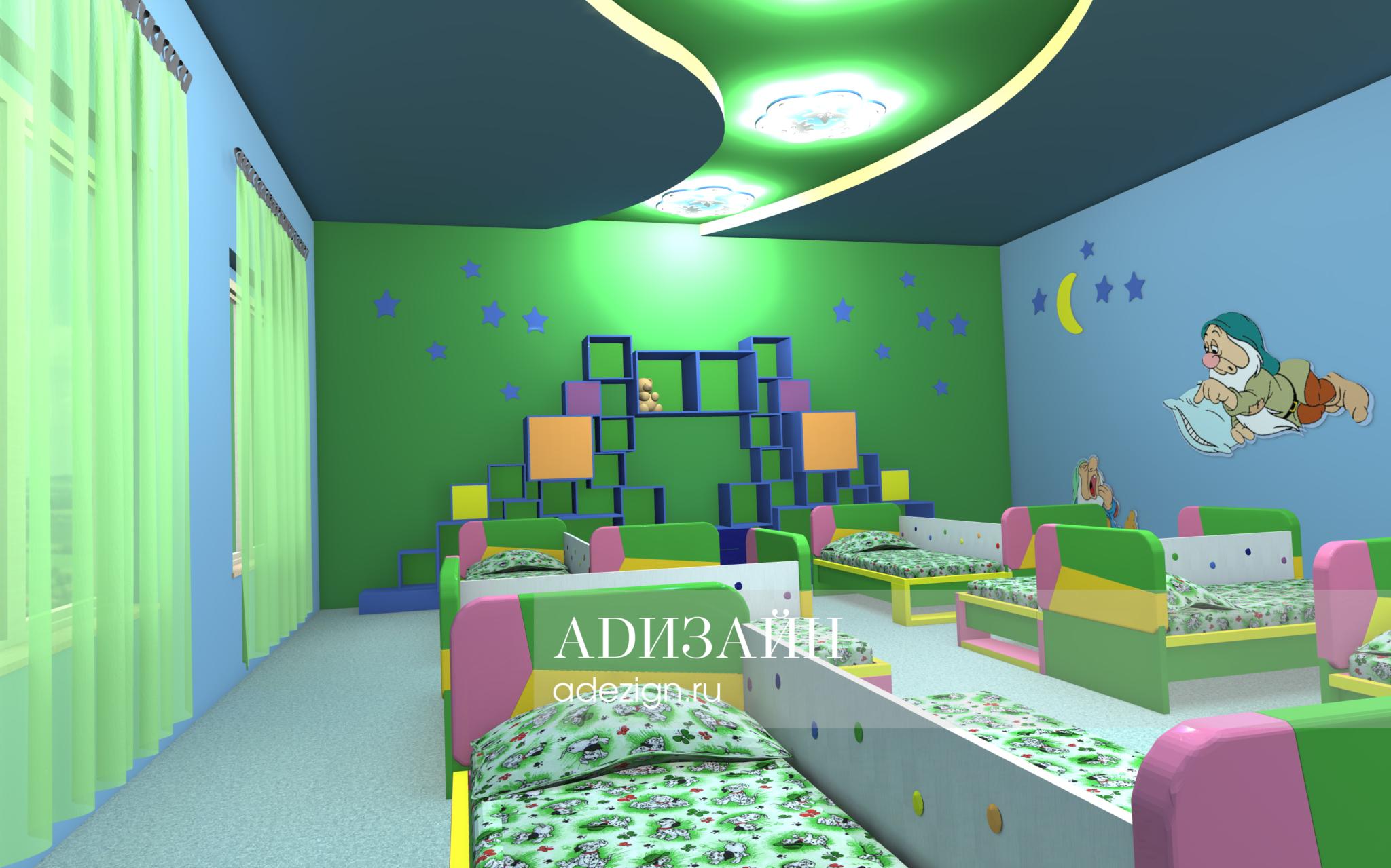 Детский сад «Радуга». Спальная зона