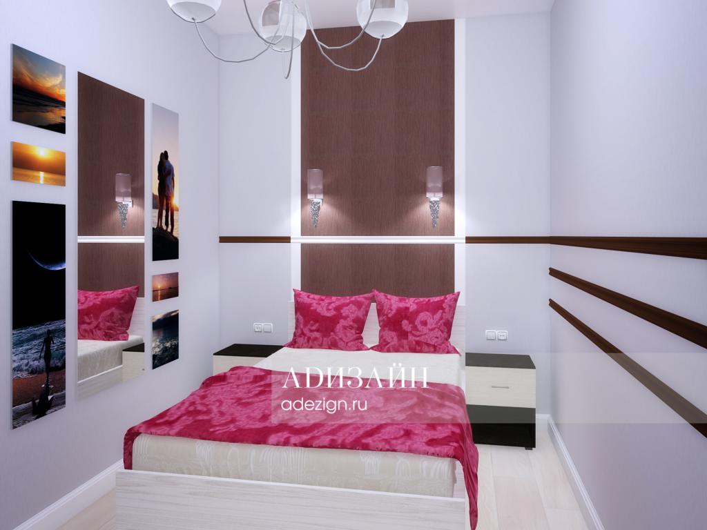 Спальная комната для женщины. Спальное место