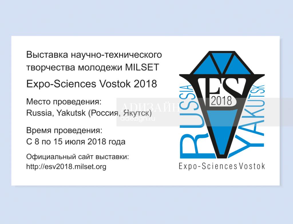 Визитка с логотипом ESV