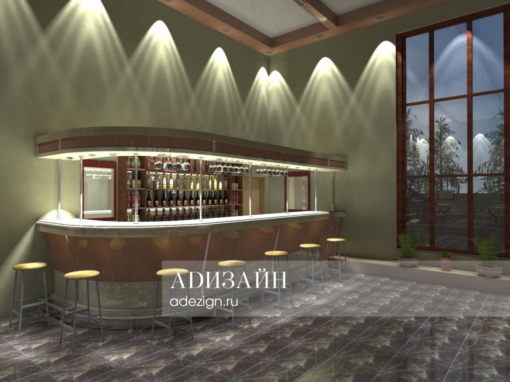 Архитектурно-дизайнерское решение театра Ганновер в немецком стиле. Кафе