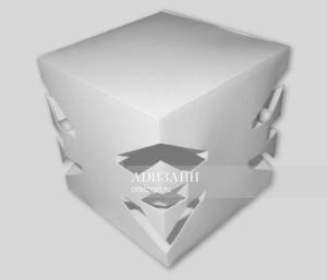 Объемная композиция. Пластика объема куба