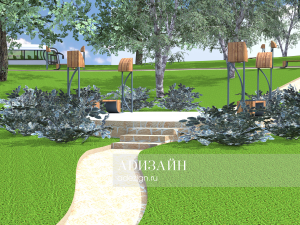 Террасный сад. Благоустройство зоны отдыха