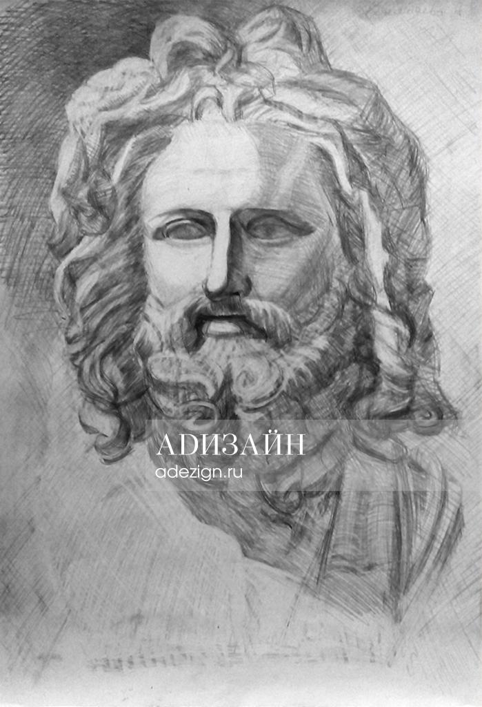 Гипсовая голова Зевса