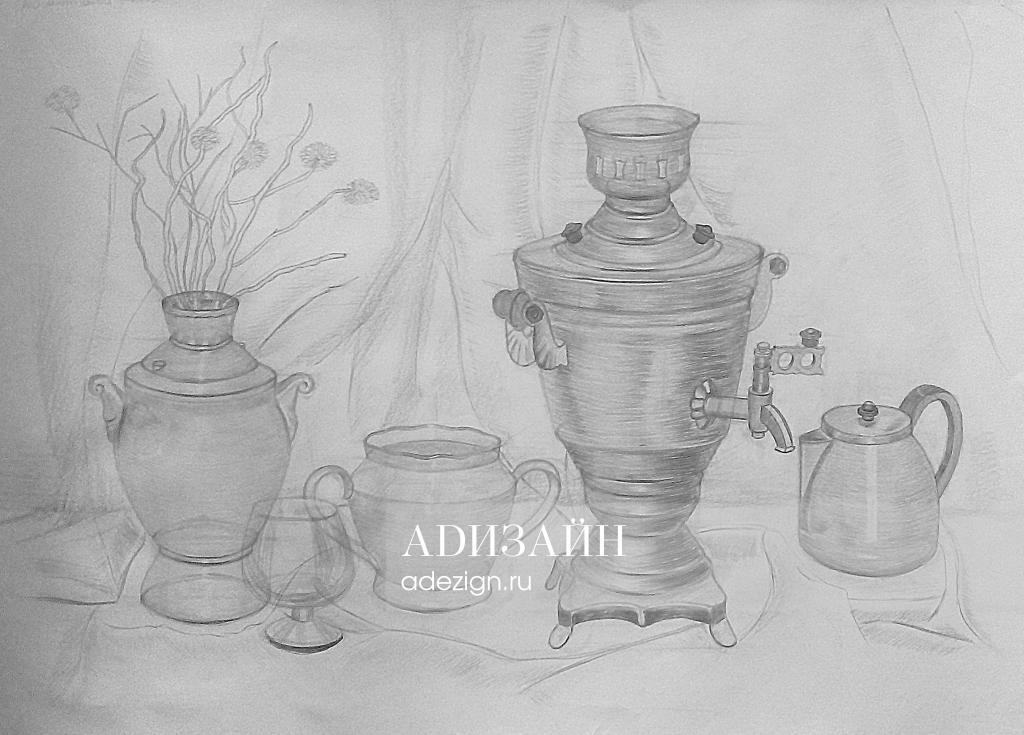 Натюрморт. Набор чайной посуды